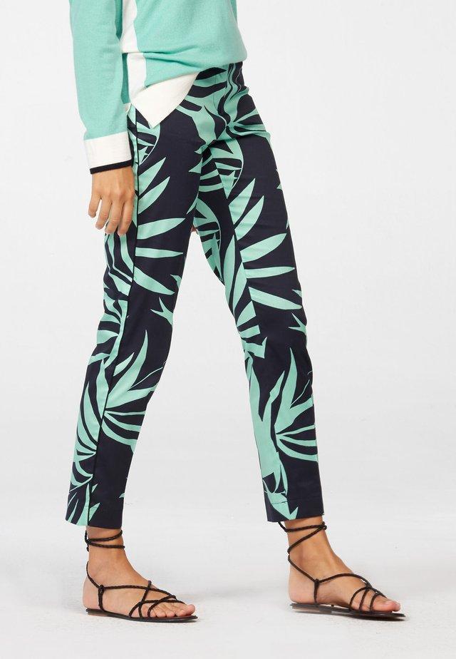 HOSE - Trousers - black/jade