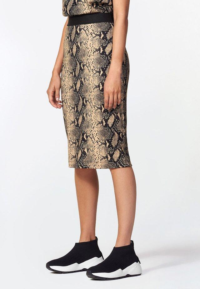 Pencil skirt - greybrown
