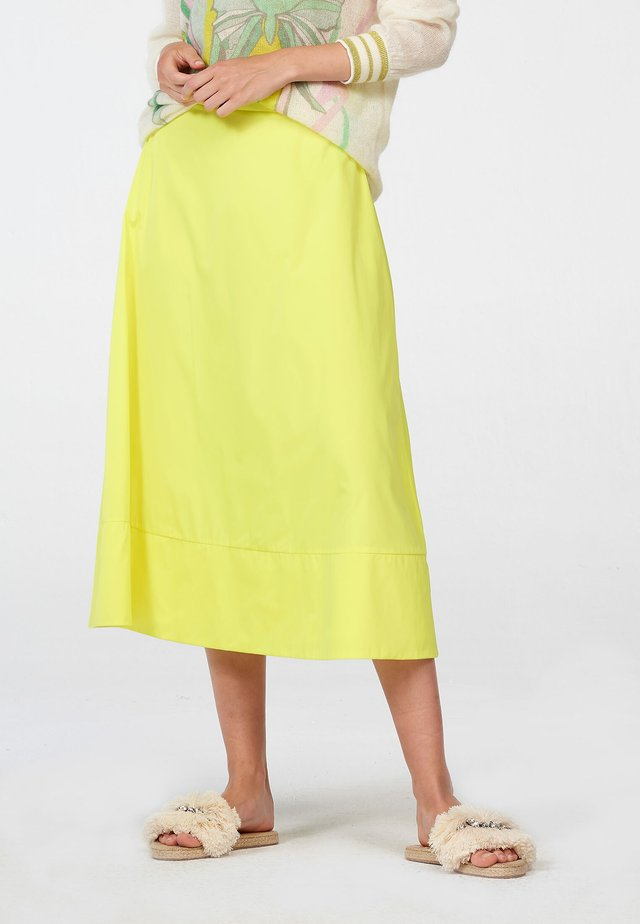 A-line skirt - neongelb