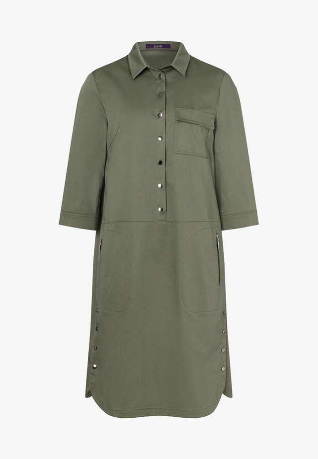 Shirt dress - olive green