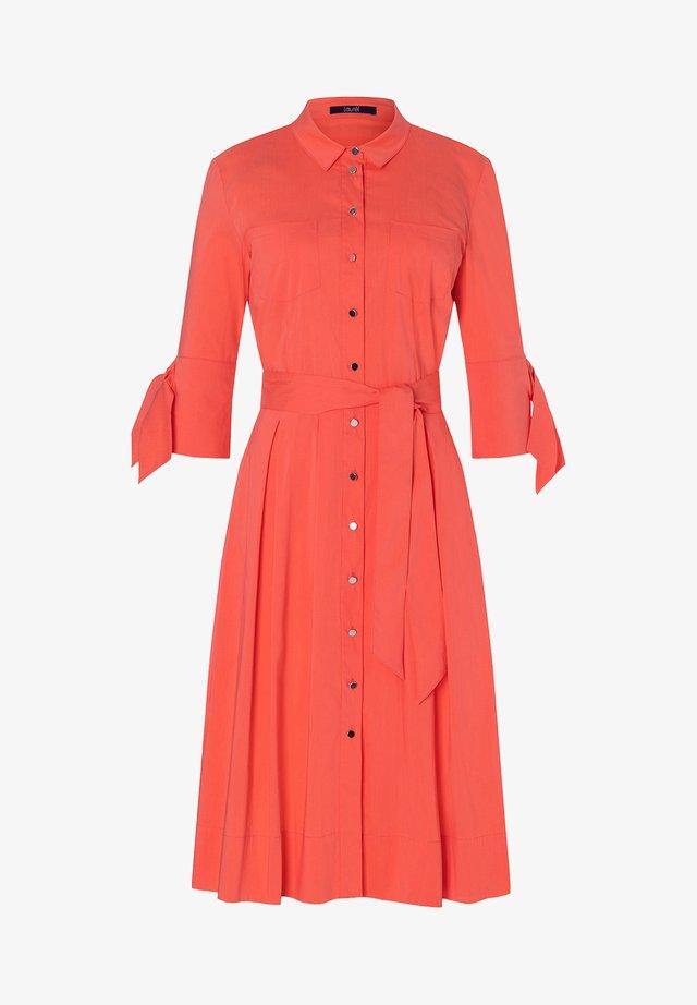 Shirt dress - coral