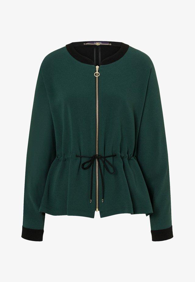 TWO-TONE-OPTIK - Summer jacket - dunkelgrün/schwarz
