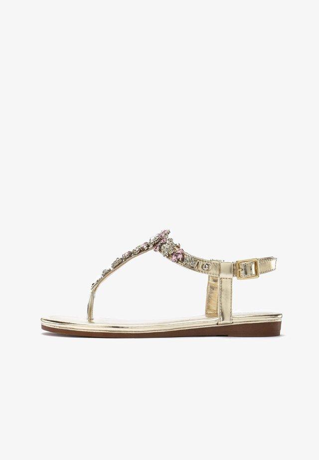 T-bar sandals - goldfarben