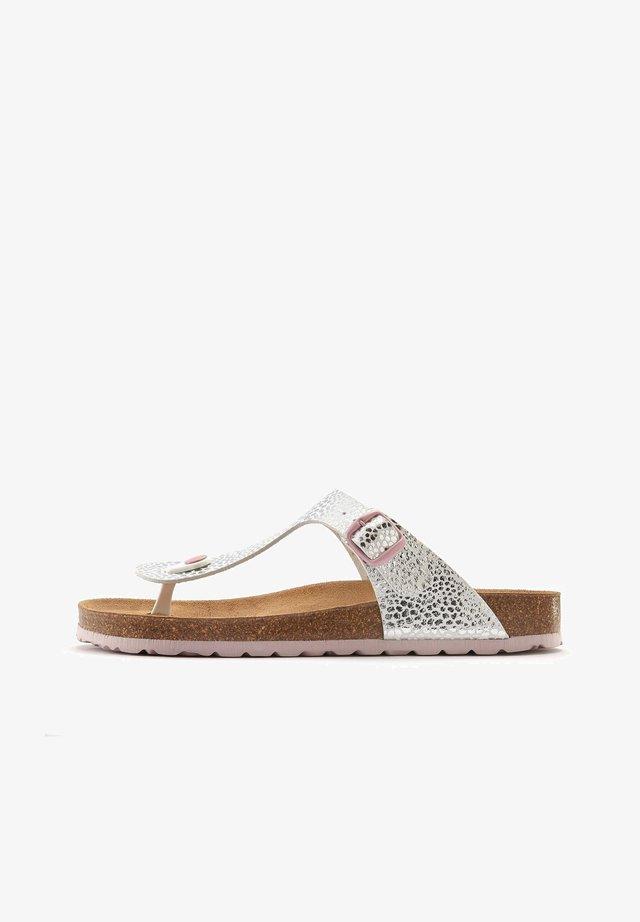 T-bar sandals - silberfarben