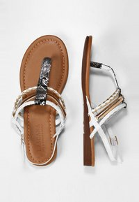LASCANA - T-bar sandals - gold-colored camel-cream - 2