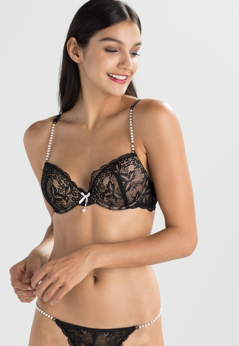 LASCANA - Push-up BH - black/creme