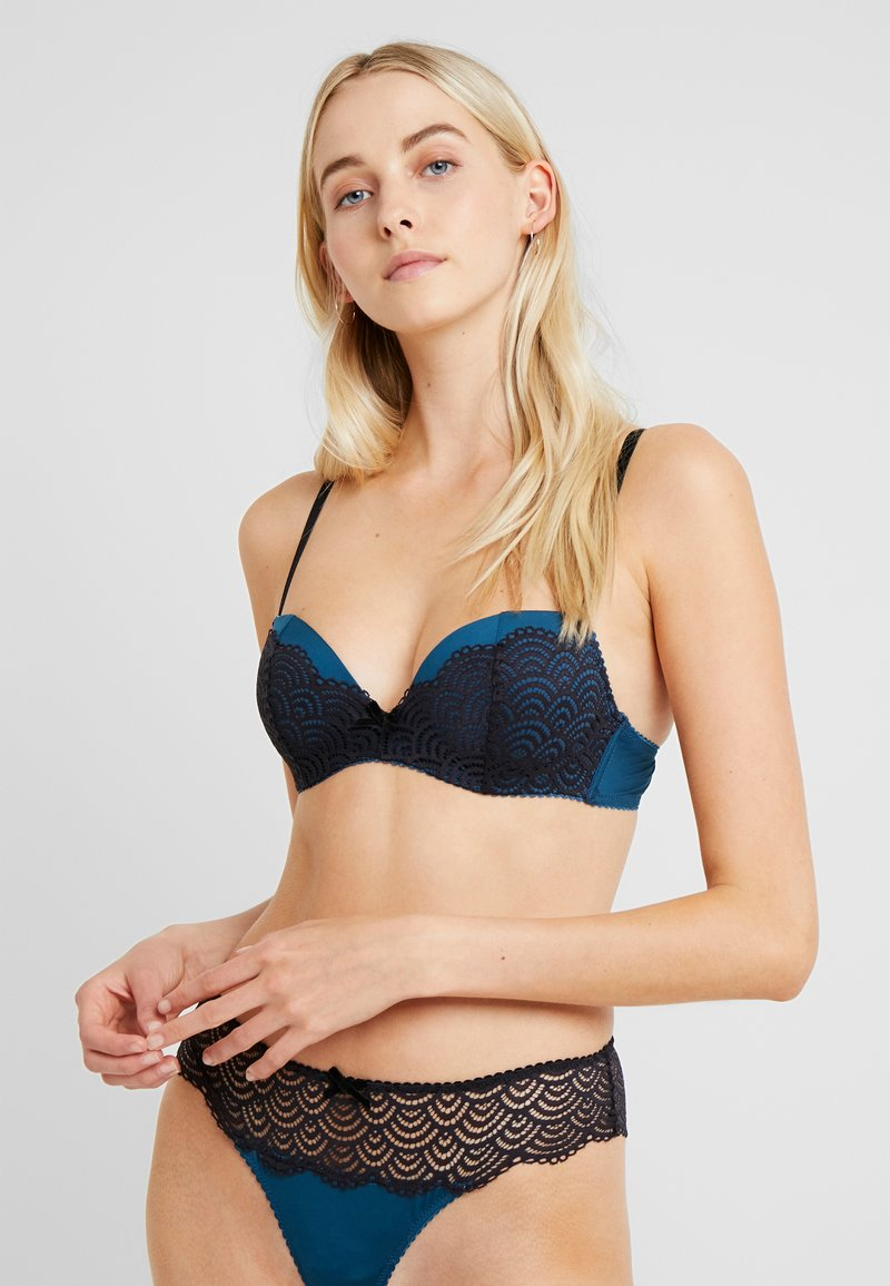 LASCANA - LUISA BRA - Push-up bra - black/petrol