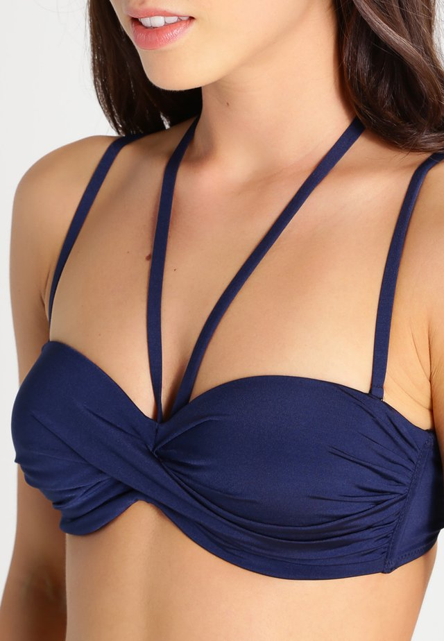 WIRE BANDEAUBIK - Bikini - nachtblau