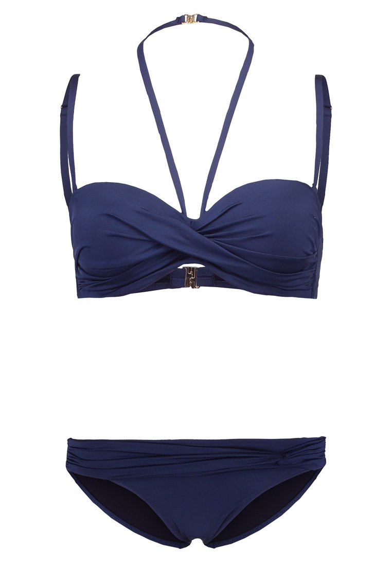 LASCANA - WIRE BANDEAUBIK - Bikini - nachtblau