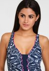 LASCANA - Swimsuit - navy/white