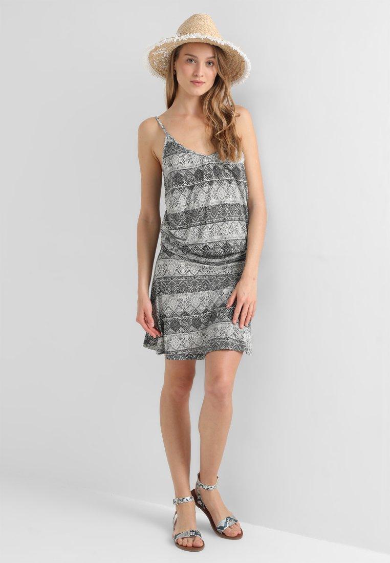 LASCANA - GISELLE BEACHDRESS - Jersey dress - schwarz/crem