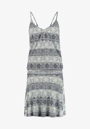 GISELLE BEACHDRESS - Žerzejové šaty - schwarz/crem