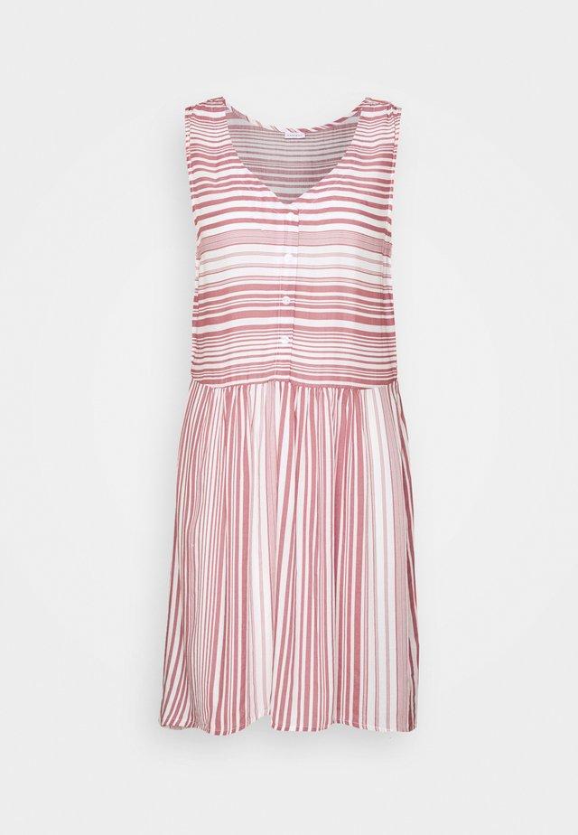 Sukienka letnia - weiß/mauve