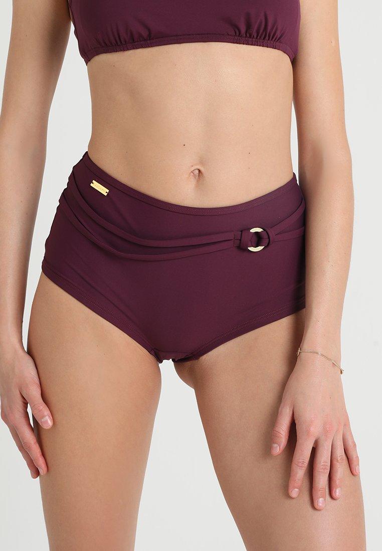 LASCANA - HOTPANTS RING - Bikini bottoms - bordeaux