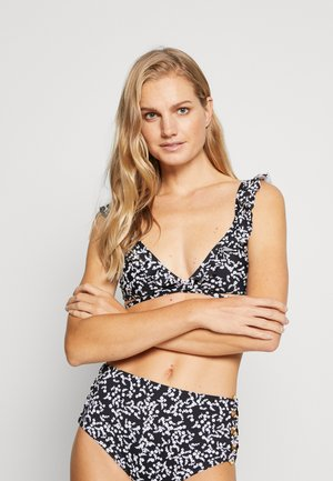 TRIANGEL TOP - Bikini top - black