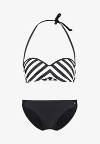 LASCANA - WIRE BANDEAU SET - Bikini - black/white - 5