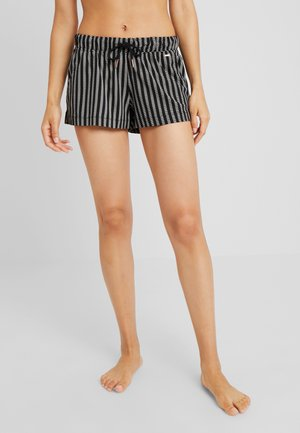 COZY WORLD SHORTS - Spodnie od piżamy - black/cream