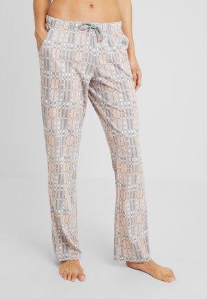 COZY WORLDPANTS - Pyjama bottoms - lightgrey/dusky pink