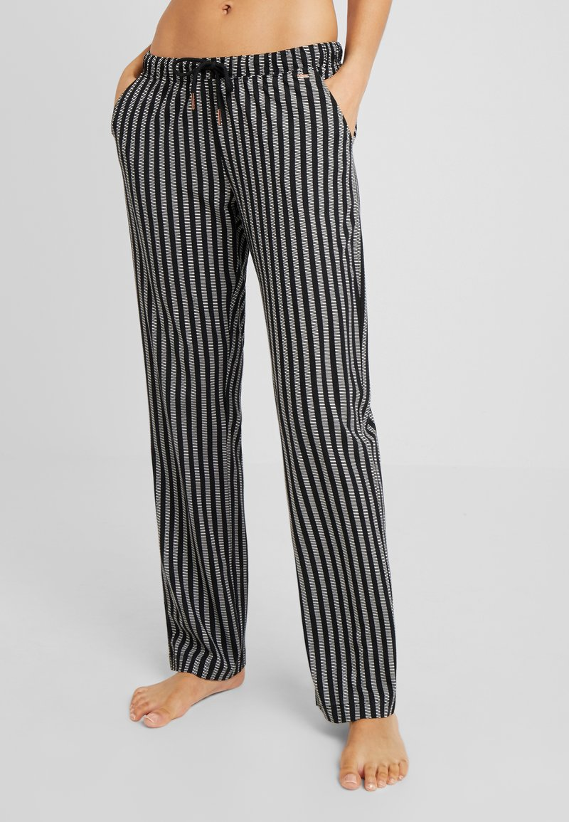 LASCANA - COZY WORLDPANTS - Nattøj bukser - black/cream
