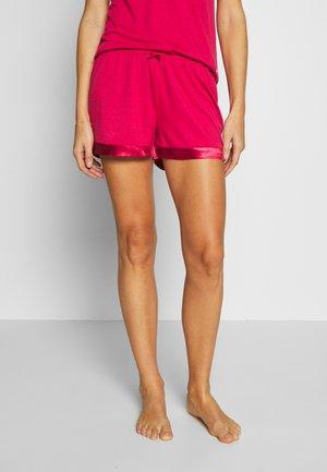 SHORTS SHINY - Pyjamabroek - red