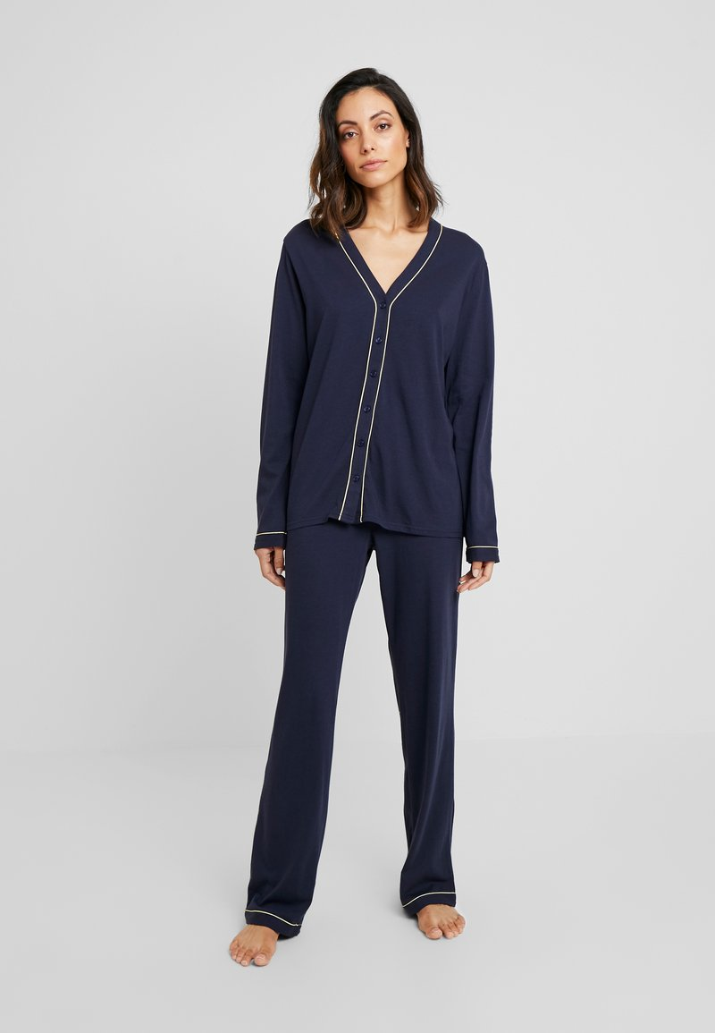 LASCANA - CLASSY DREAMS SET - Pyjamas - dark blue