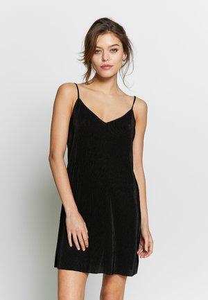 PLISSEE NEGLIGÉ - Nachthemd - black