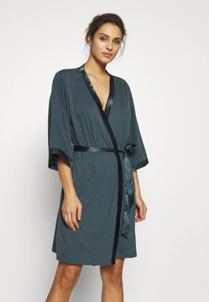 LASCANA DRESSING GOWN - Dressing gown - slate