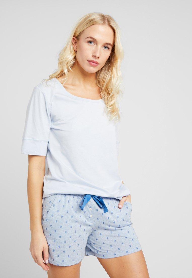 LASCANA - COZY WORLD - Nachtwäsche Shirt - light blue