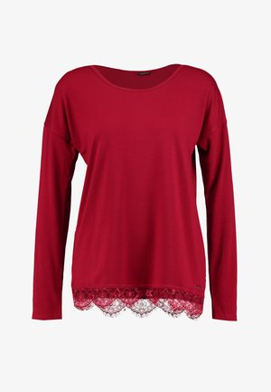 LUXURIOUS NIGHTS LONGSLEEVE - Pyžamový top - red