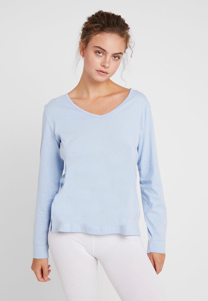 LASCANA - LONGSLEEVE - Pyjama top - light blue