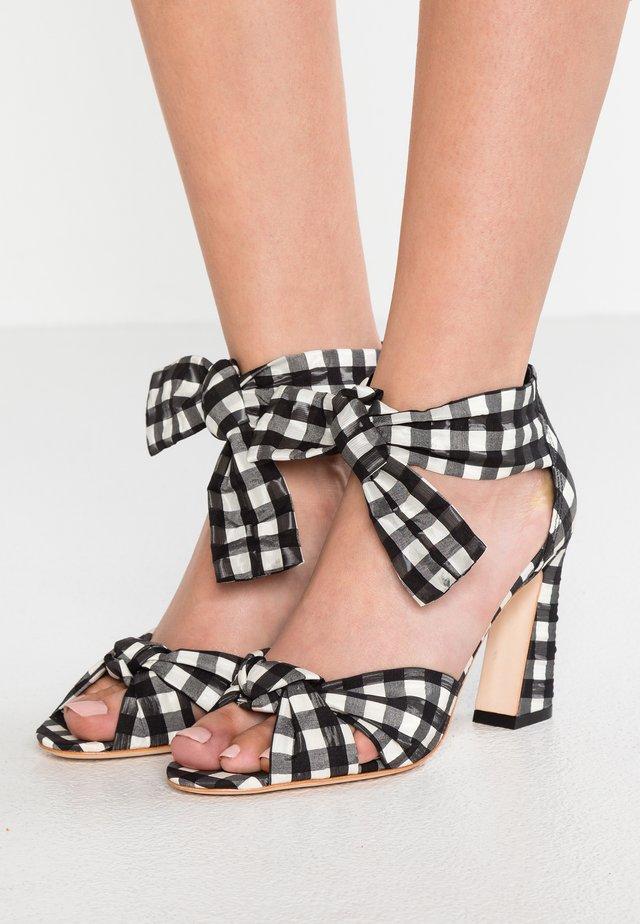 NAN ANKLE TIE - High Heel Sandalette - black