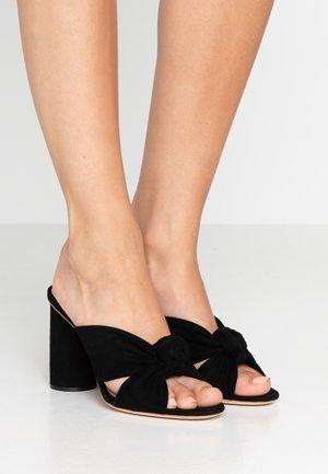 COCO - Pantofle na podpatku - black