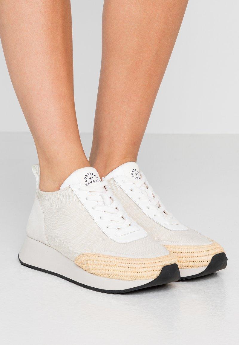 Loeffler Randall - REMI - Sneakers basse - offwhite/grey