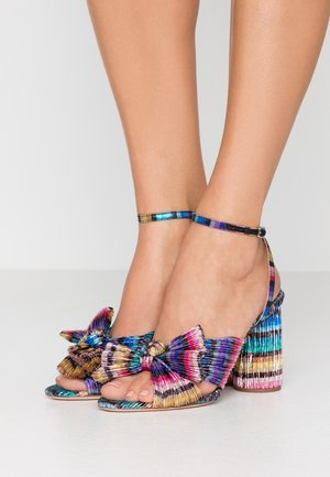 CAMELLIA KNOTWITH ANKLE STRAP - High heeled sandals - rainbow