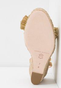Loeffler Randall - CHARLEY PLEATED KNOT WEDGE - Sandály na vysokém podpatku - gold - 6