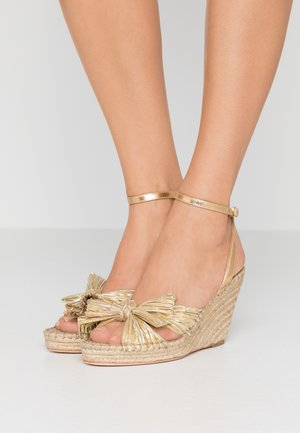 CHARLEY PLEATED KNOT WEDGE - Sandali con tacco - gold