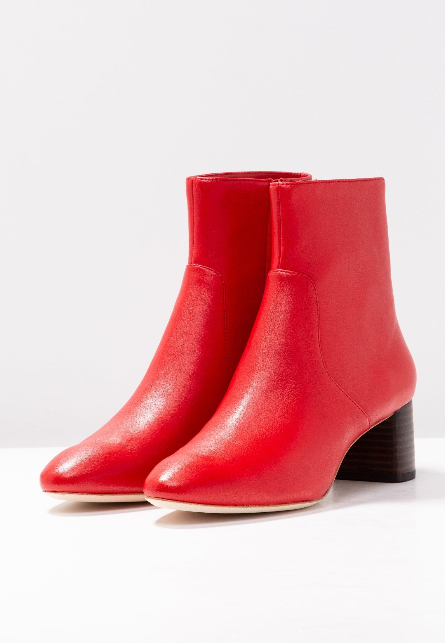 Gema BootBottines Mid Toe Randall Cherry Loeffler Red Almond Heel e2bEI9YWDH