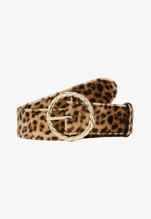 LEO TWISTED CIRCLE BUCKLE - Cintura - camel