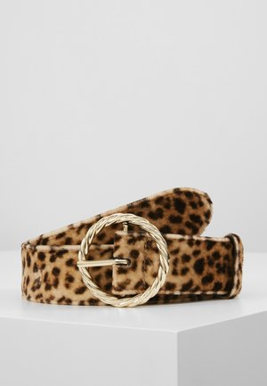 LEO TWISTED CIRCLE BUCKLE - Tailleriem - camel