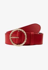 Loeffler Randall - LEO TWISTED CIRCLE BUCKLE - Ceinture taille haute - cherry red - 3