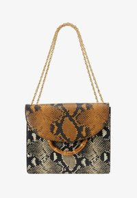 Loeffler Randall - MARLA SQUARE BAG WITH CHAIN - Håndveske - amber/sand - 5