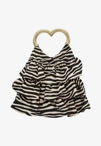 Loeffler Randall - IZZIE HEART HANDLE TOTE - Handbag - zebra - 5