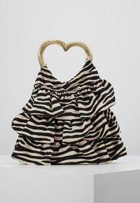 Loeffler Randall - IZZIE HEART HANDLE TOTE - Handbag - zebra - 0