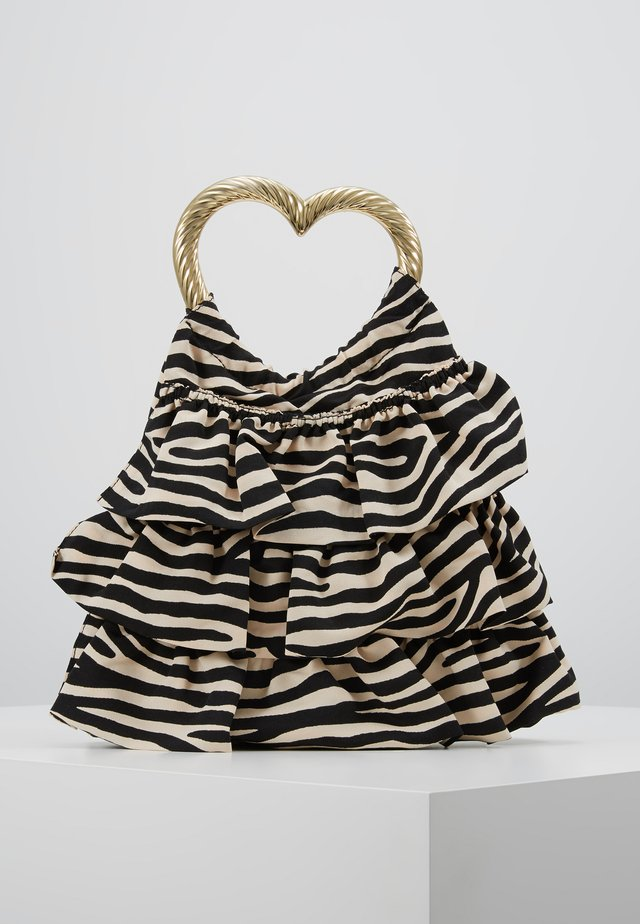 IZZIE HEART HANDLE TOTE - Handväska - zebra