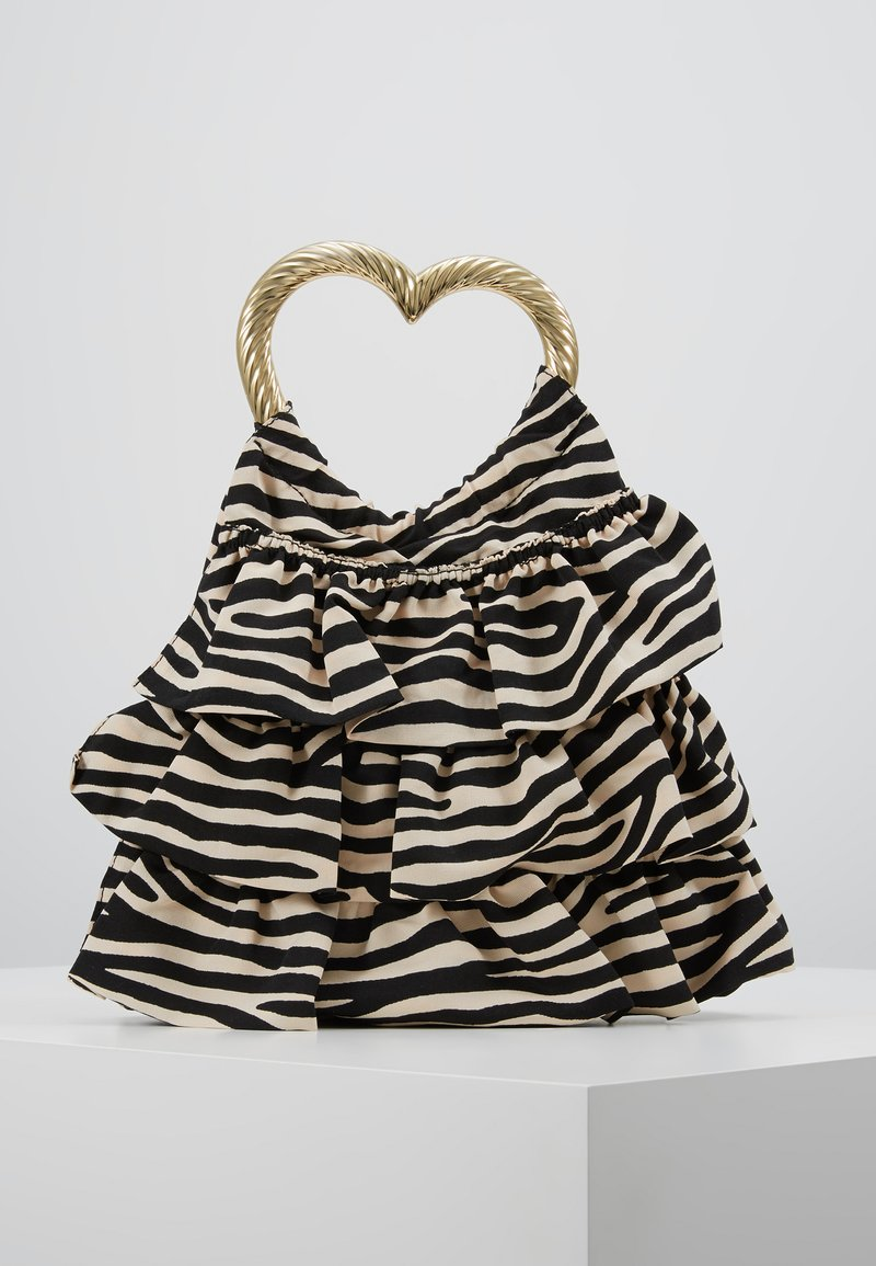Loeffler Randall - IZZIE HEART HANDLE TOTE - Handbag - zebra