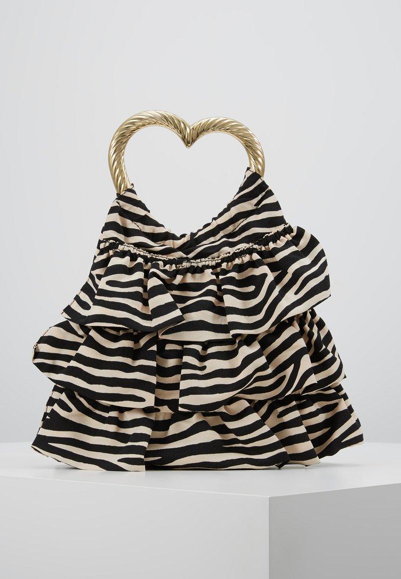 Loeffler Randall - IZZIE HEART HANDLE TOTE - Handtasche - zebra
