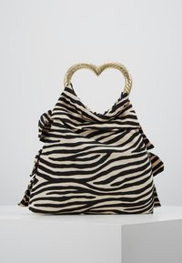 Loeffler Randall - IZZIE HEART HANDLE TOTE - Handbag - zebra - 2