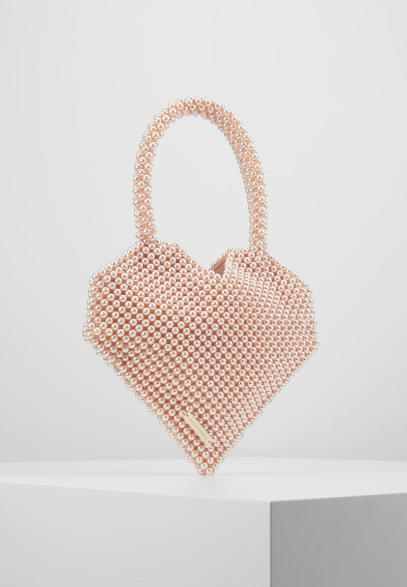 Loeffler Randall - MARIA BEADED HEART TOTE - Kabelka - blush