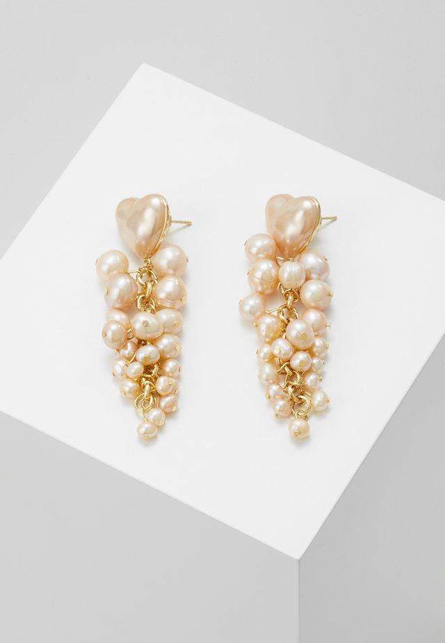 TALLULAH HEART - Náušnice - pink pearl