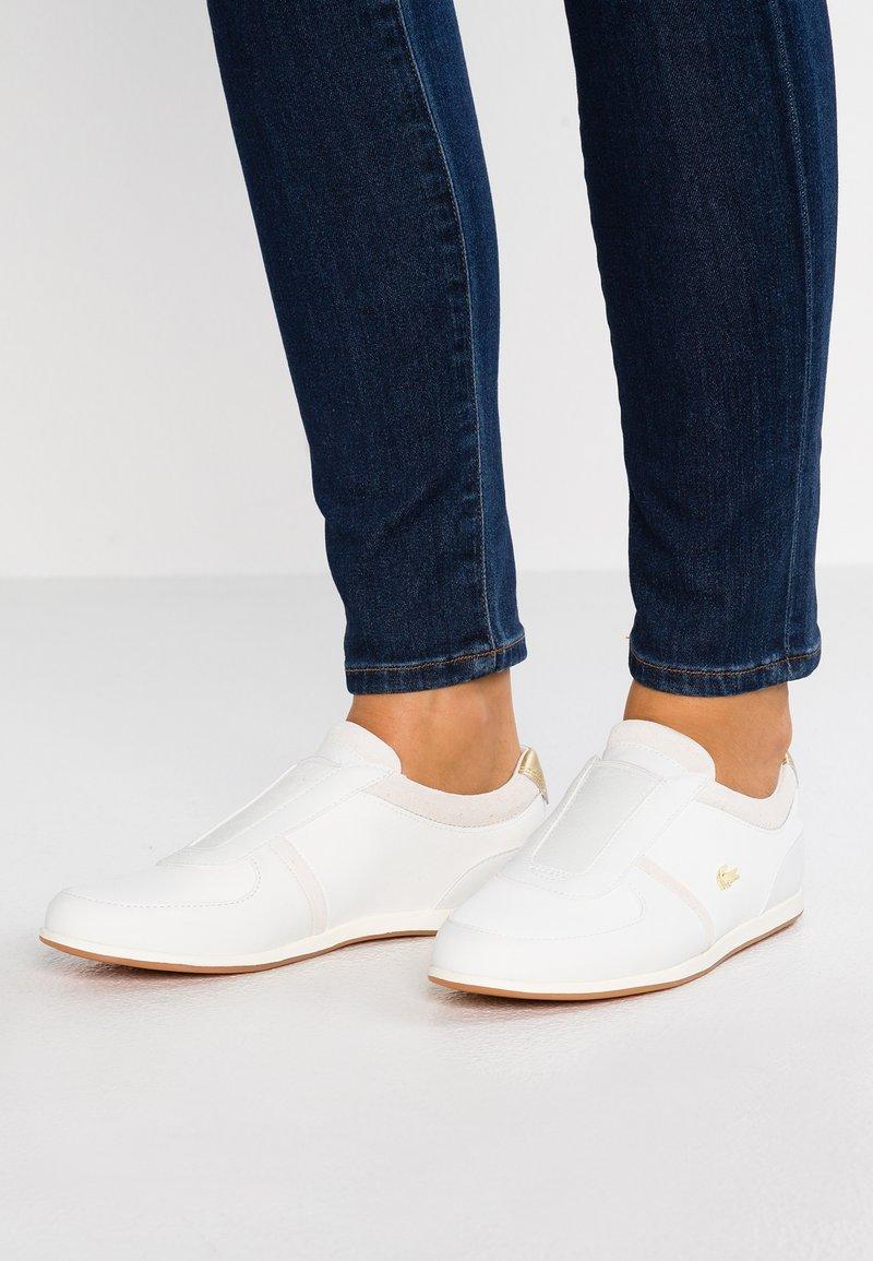 Lacoste - REY SLIP - Slipper - white